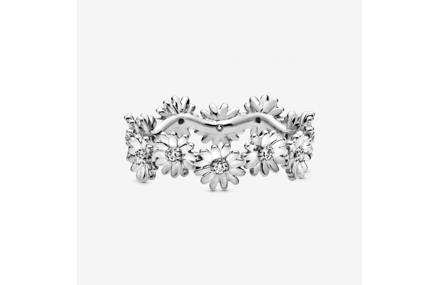 Pandora Sparkling Daisy Flower Crown Ring Silver