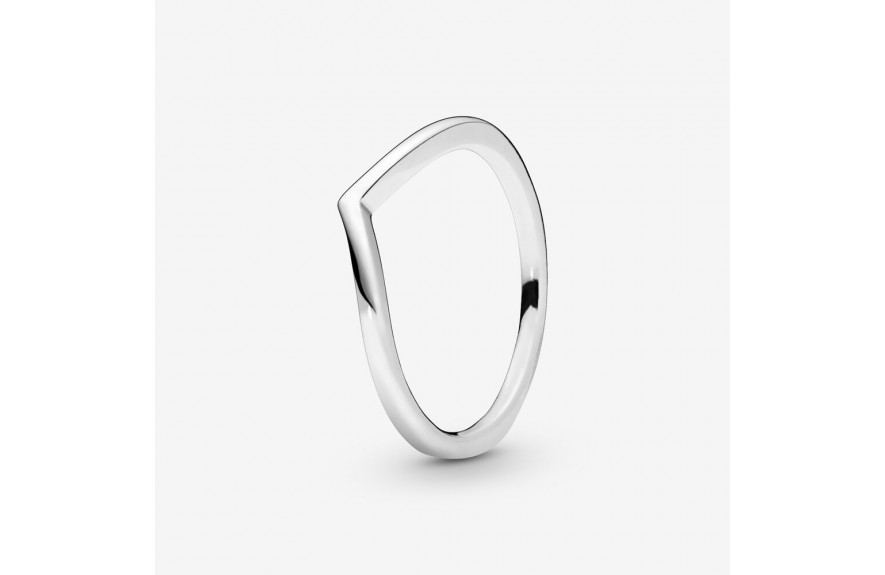 Pandora Polished Wishbone Ring Silver