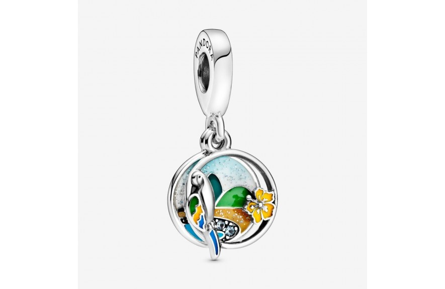 Pandora Brazil Beach & Parrot Dangle Charm