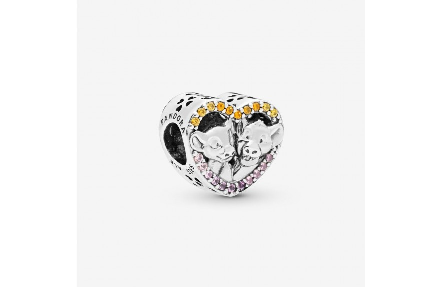 Pandora Disney The Lion King Simba and Nala Heart Charm
