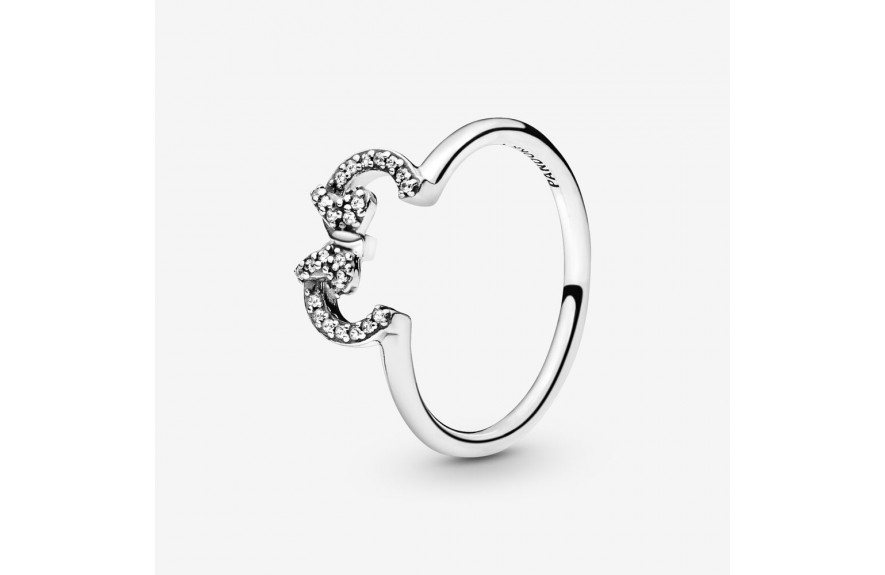 Pandora Disney Minnie Mouse Ears Silhouette Puzzle Ring