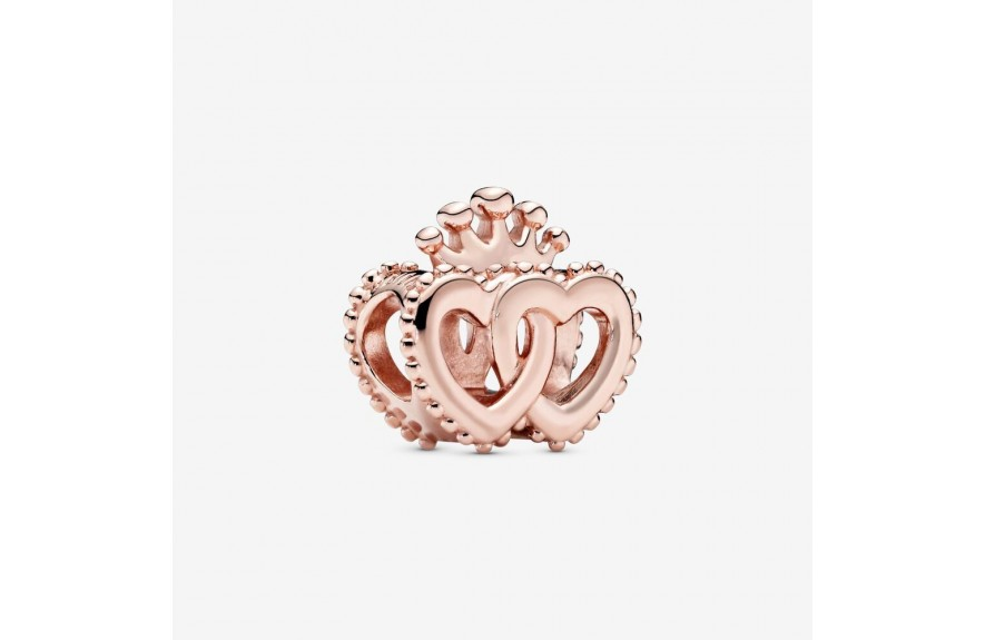 Pandora Crown and Entwined Hearts Charm