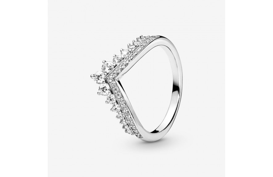 Pandora Princess Wishbone Ring Silver