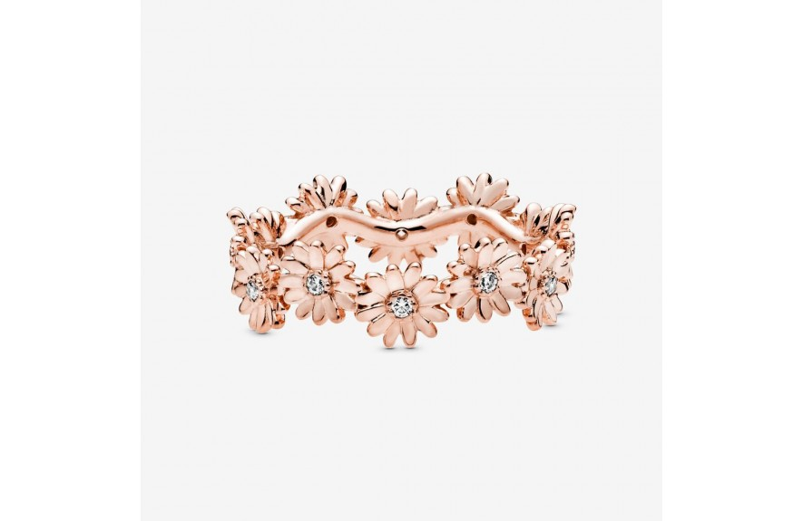 Pandora Sparkling Daisy Flower Crown Ring Rose Gold