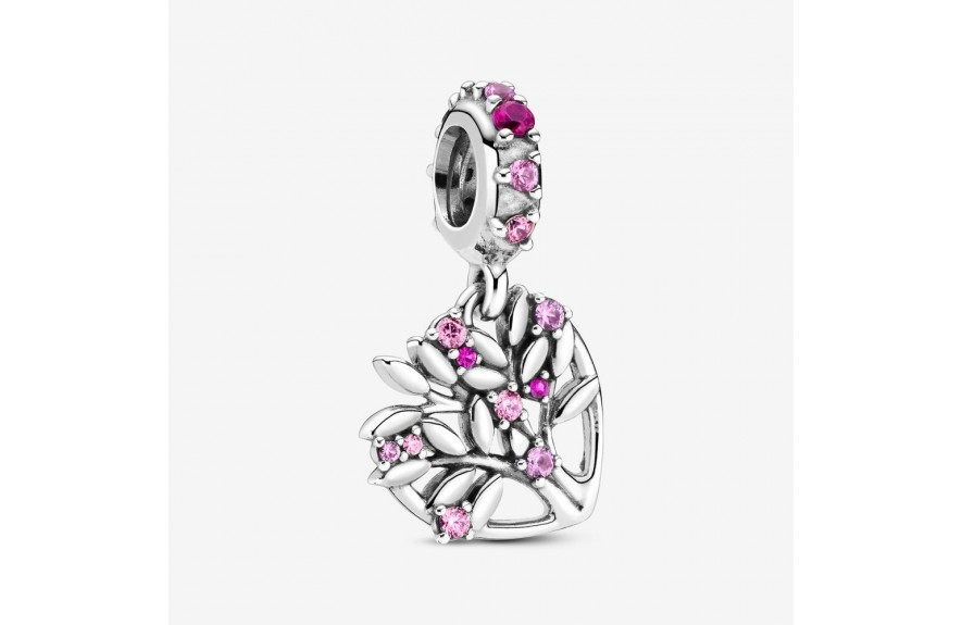 Pandora Pink Heart Family Tree Dangle Charm