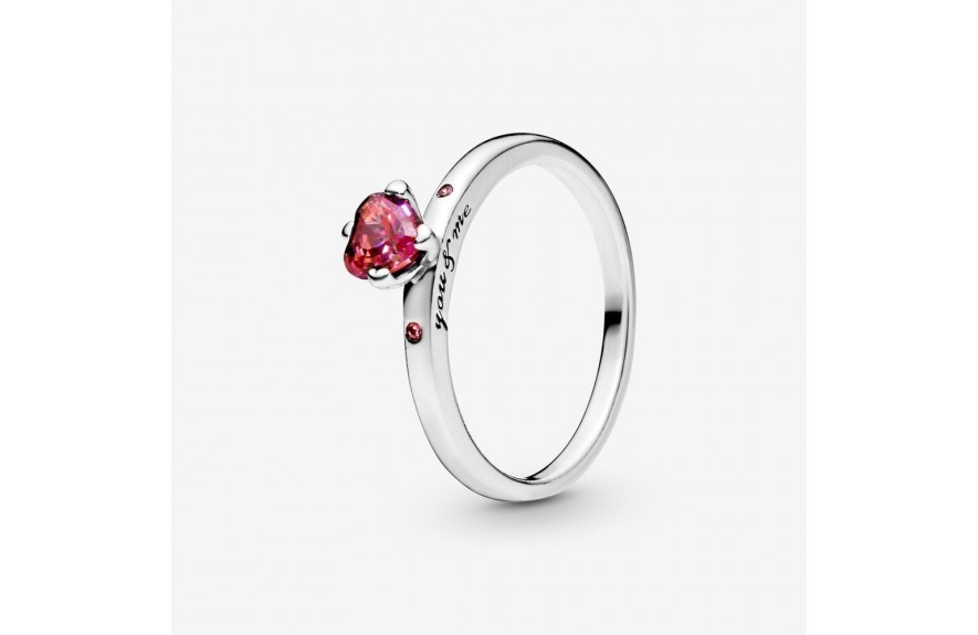 Pandora Sparkling Red Heart Ring