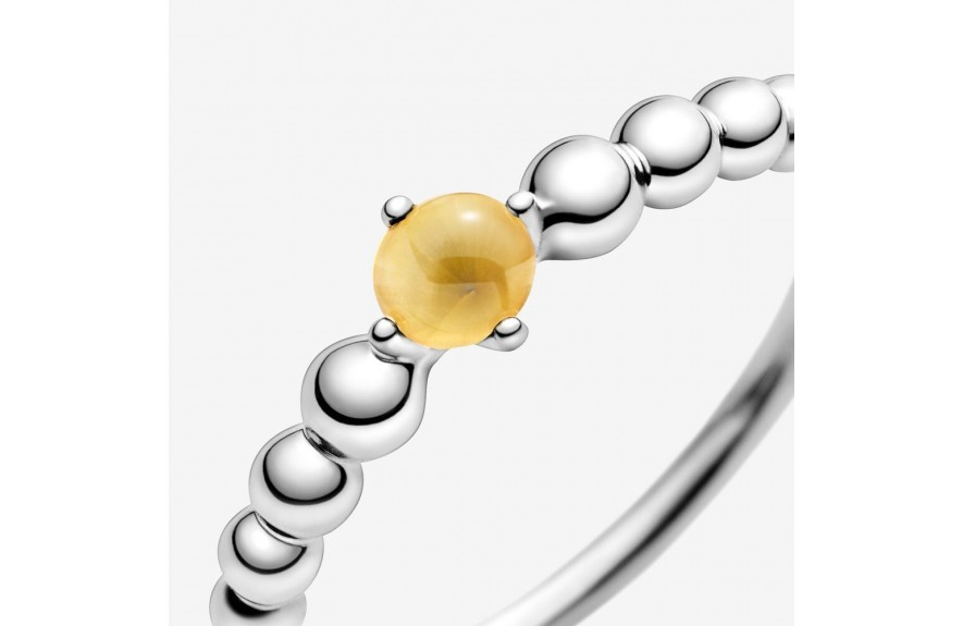 Pandora November Honey Beaded Ring Yellow