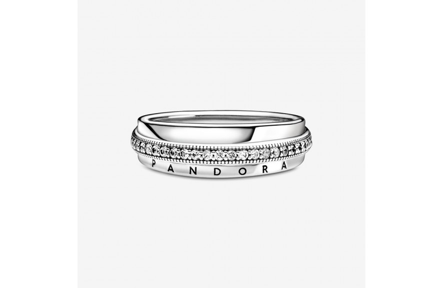Pandora Triple Band Pavé Ring