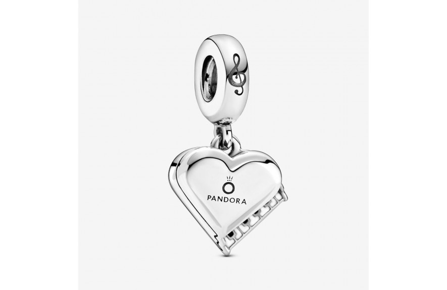 Pandora Grand Piano Heart Dangle Charm