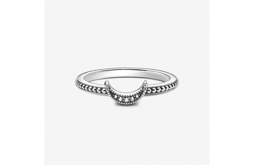 Pandora Crescent Moon Beaded Ring