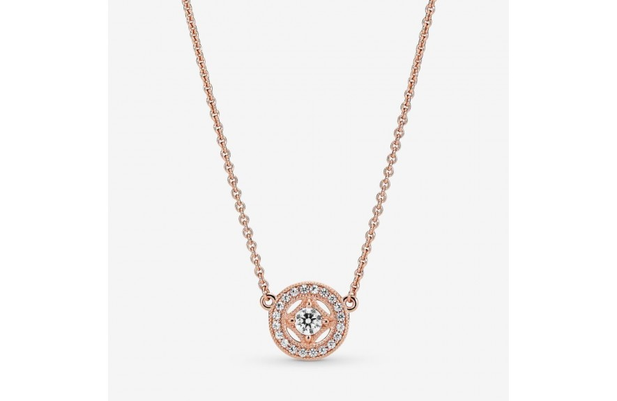 Pandora Vintage Circle Collier Necklace Rose Gold