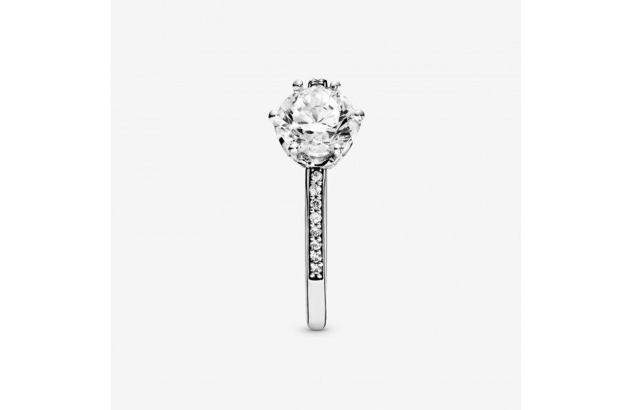 Pandora Clear Sparkling Crown Solitaire Ring