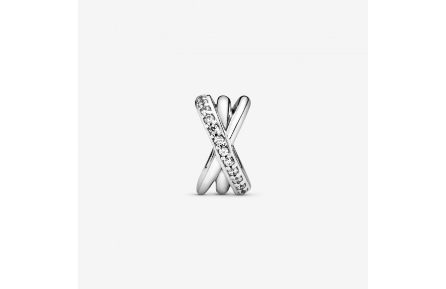 Pandora Sparkling and Polished Lines Spacer Charm