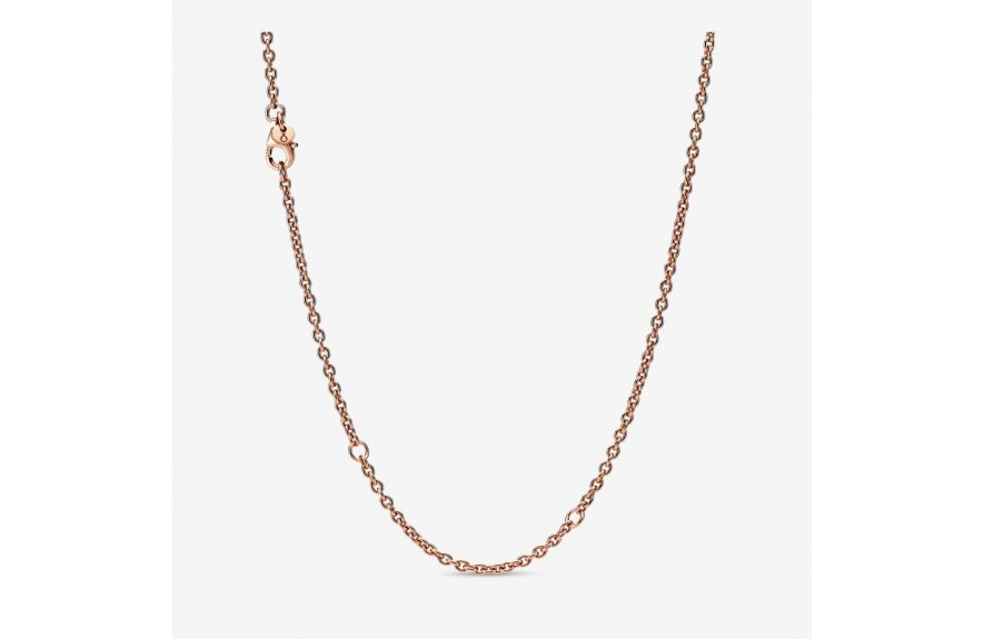 Pandora Cable Chain Necklace Rose Gold