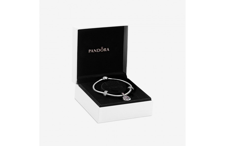 Pandora Sparkling Pink Heart Family Tree Gift Set