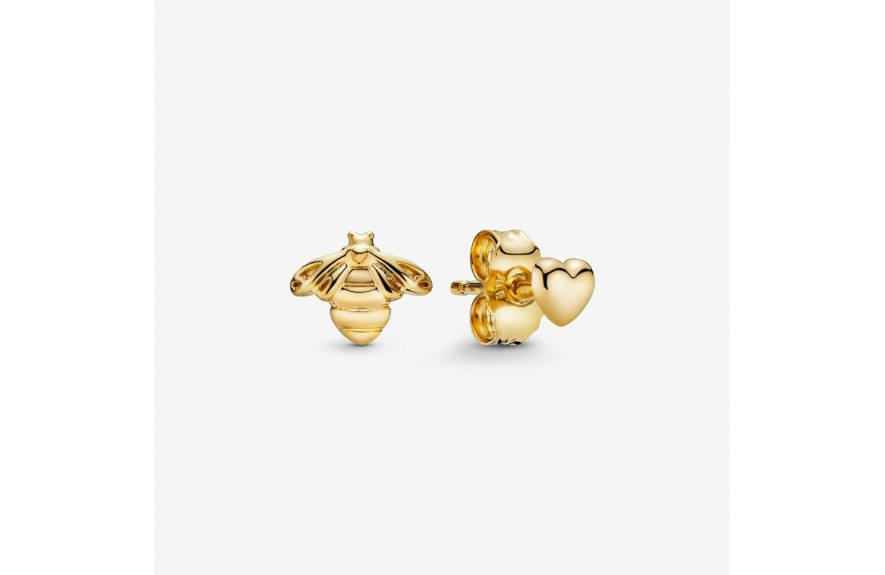Pandora Bee & Heart Stud Earrings