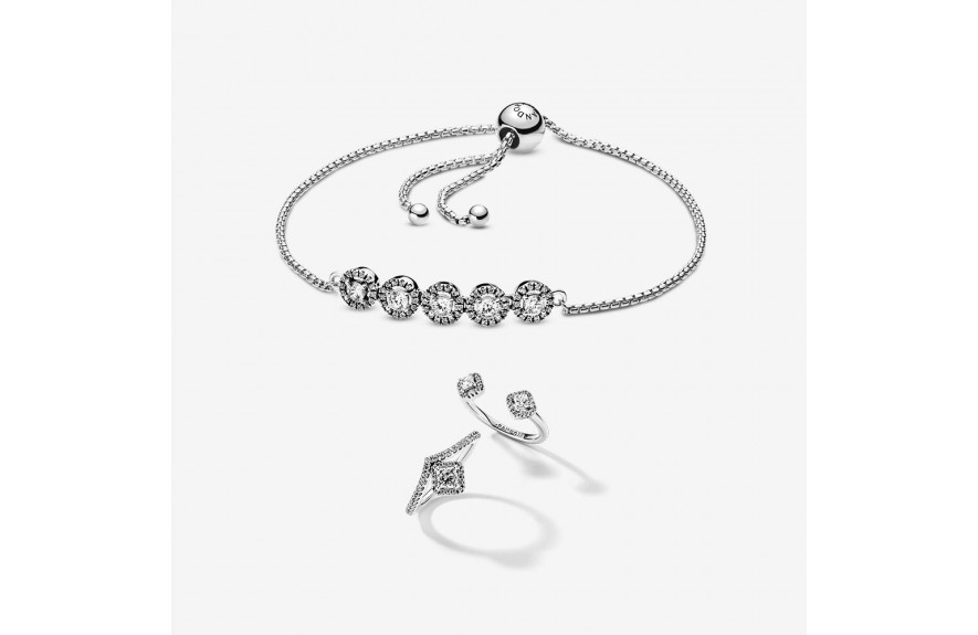 Pandora Icy Elegance Bracelet and Ring Set